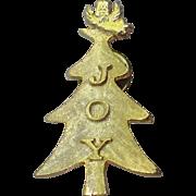 Roman JOY Words Angel Christmas Tree Pin, Book Piece