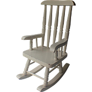 SALE Vintage Rocking Chair White, for Doll Display