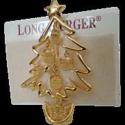 SALE Longaberger Basket Christmas Tree Pin ~ Book Piece