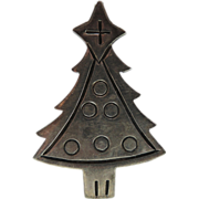 SALE Sterling World Silver Christmas Tree Pin/Pendant