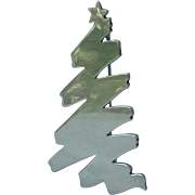 SALE SCARCE James Avery Signed Sterling Christmas Tree Pin, Book Piece