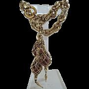 SALE PENDING Napier 1950's Lace Entwined Wine Bottles Charm Bracelet ~ Book Piece