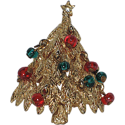 REDUCED Benedikt N.Y. 3D Glass Ornament Christmas Tree Pin, Book Piece
