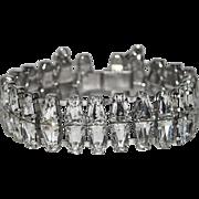 Keystone Rhinestone Double Row Bracelet