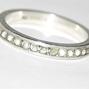 SOLD Uncas Sterling Silver Clear Rhinestone Eternity Ring ~ Size 5