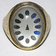 REDUCED 1960's Dial Face Mood Ring ~ Size 7.5 ~ Works!