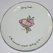 "SALE 1973 Rosie O'Neill Kewpie ""Being Loved"" Collector's Edition Plate"