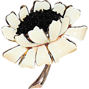 Har Signed 1950's Lotus Flower Figural Brooch