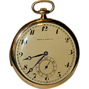 18K Gold Swiss Minute Repeater Pocket Watch, c. 1910 Frankfeld Fréres, Provenance