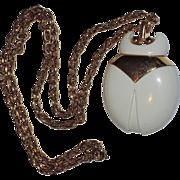 Trifari 1970's Scarab Beetle Lucite Pendant Necklace