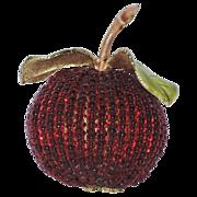 REDUCED RARE Vendome 3D Apple Glass Bead Brooch