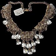REDUCED Napier 1955 Drippy Crystal Necklace ~ Eugene Bertolli, Book Piece