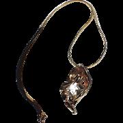 REDUCED Kramer of New York Modernist Crystal Pendant Necklace