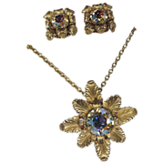 REDUCED Napier 1968 Eugene Bertolli Designer of the Year Award Pin/Pendant & Earring Set