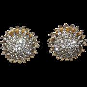 REDUCED Castlecliff 1960's Fireworks Starburst 3D Domed Earrings