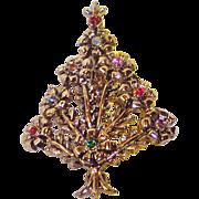 REDUCED Beatrix Pom Pom Christmas Tree Pin ~ Book Piece