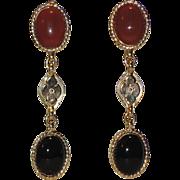 REDUCED Accessocraft N.Y.C. Runway Etruscan Revival Drop Earrings ~ RARE