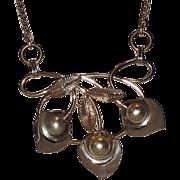 REDUCED Van Dell 1940s 12K Gold Filled Calla Lily Necklace ~ Original Box