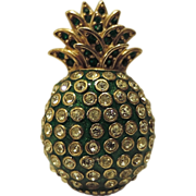 REDUCED Ciner Signed Pineapple Fruit Figural Brooch