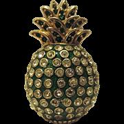 REDUCED Ciner Signed Pineapple Fruit Figural Brooch