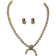 SALE Lisa Jenks NY Cultured Pearl & Sterling Silver Necklace & Earrings
