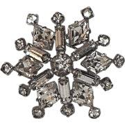 REDUCED Kramer of New York Rhinestone Snowflake Brooch