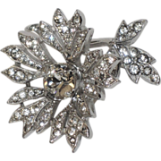 REDUCED Christian Dior by Kramer Trembler 3D Flower Rhinestone Brooch
