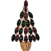 REDUCED Napier Topiary Christmas Tree Pin ~ Book Piece