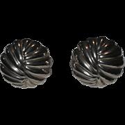 SALE Talleres De Los Ballesteros Taxco Modernist Sterling Silver Earrings
