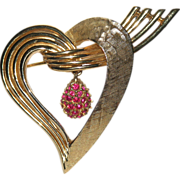 SALE Boucher 1966 Heart Brooch