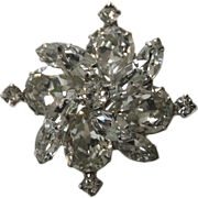 REDUCED Weiss Mini Pinwheel Snowflake Brooch