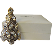 SOLD RARE Swarovski Ltd. Ed. 1996 Crystal Christmas Tree Pin ~ Book Piece ~ MINT in Box