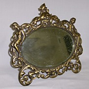 REDUCED Antique Figural Mirror