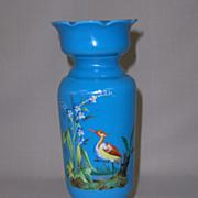SALE Antique Bristol Glass Vase