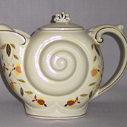 "SALE Hall ""Autumn Leaf""  Nautilus Teapot"