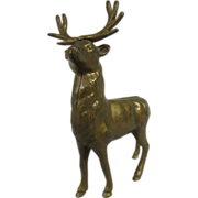 REDUCED Antique Cast Iron Reindeer Bank