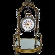 Antique Pocket Watch & Stand