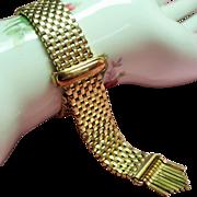 Vintage Kreisler Victorian Revival Mesh Bracelet Fringe