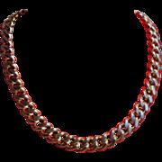 Vintage Napier Sterling Silver Hefty Choker Necklace