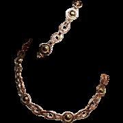 Vintage Retro Modern Rose & Yellow Gold Filled Choker Necklace Bracelet Set