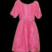 True Vintage PRETTY in PINK Dress Pinup Rockabilly 1950's Barbie Prom Estate