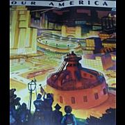 Coca-Cola SUPER RARE Print Poster Set Art Deco Electricity set 4