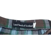 Tr Vintage 50's Laird Porch Scotland Scottish Wool Kilt Skirt 50's estate