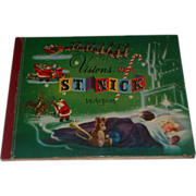 True Vintage 1950 Christmas Santa Claus POP UP Book Visions of St Nick Bradford