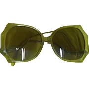 True Vintage 80's FUNKY ICONIC Thick Wavy Lucite Sunglasses Eyeglasses Glasses