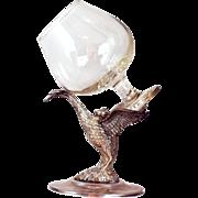 Vintage Figural Bird Brandy Warmer - Alpacca