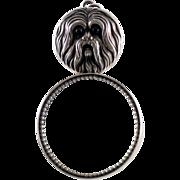 SOLD Vintage SHIH TZU Dog Figural Magnifying Glass – Loupe Sterling Silver