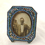 SALE Small Micro Mosaic Frame – Antique – c 1900