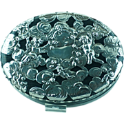 Mauser Silver, Leather Art Nouveau Jewelry Box – Angels, Cherubs