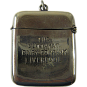 Antique Advertising Match Safe, Vesta –Buttapat Dairy Company